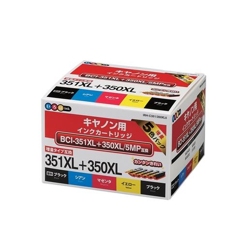 キャノン互換インク IRH−C351/350XL5