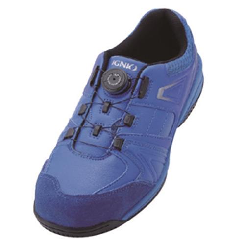 イグニオ 安全靴 ダイヤル IGS1027BL22.5