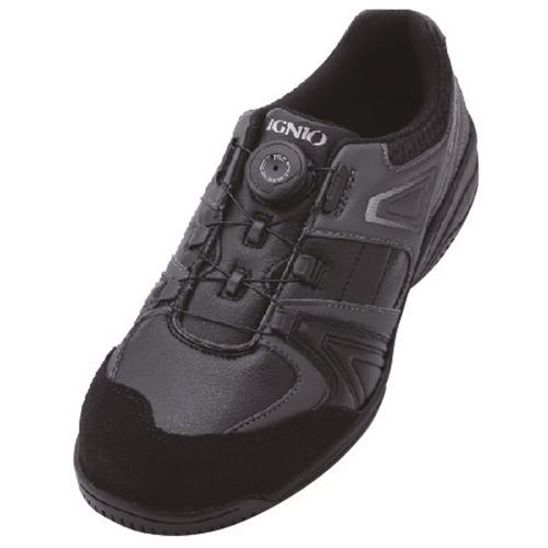 イグニオ 安全靴 ダイヤル IGS1027BK22.5