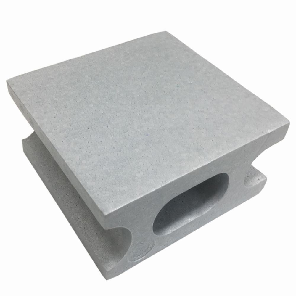 光洋産業 スチロールブロックハーフ グレー (約) 100X190X190mm