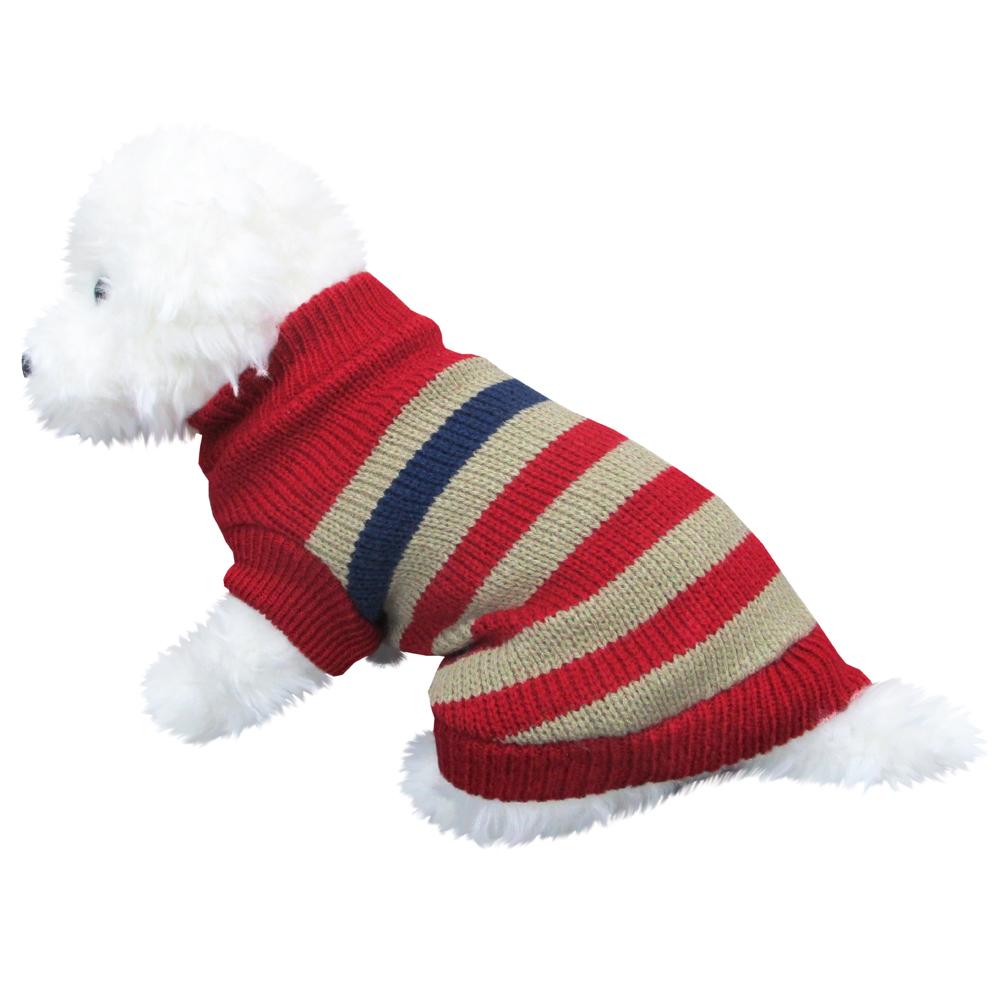 ボーダーセーター2 赤色 Lサイズ ペットウェア ペット服 かわいい おしゃれ 北欧