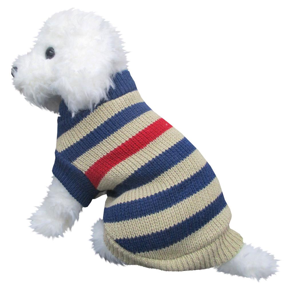 ボーダーセーター2 紺色 DMサイズ ペットウェア ペット服 かわいい おしゃれ 北欧
