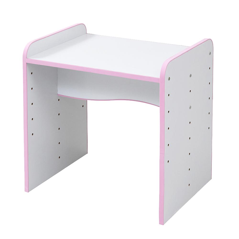 ソフトエッジで安全なキッズ つくえ 高さ調整 可能な デスク 幅60 奥行45 高さ 6段階 ピンク