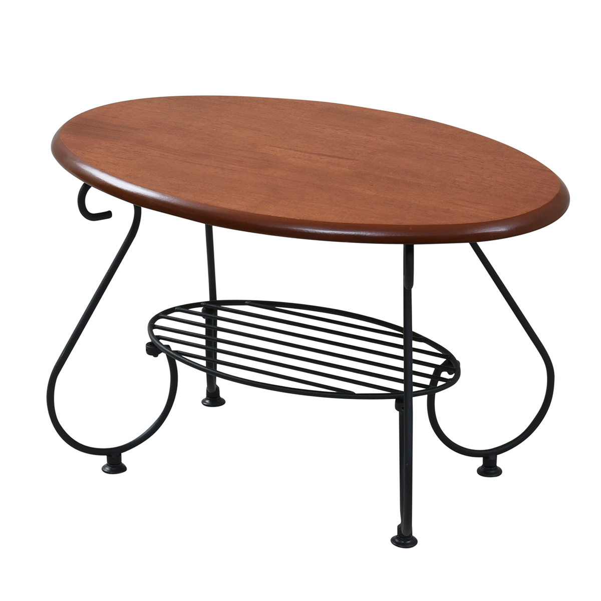 アイアン楕円テーブル IRI−0052−BK