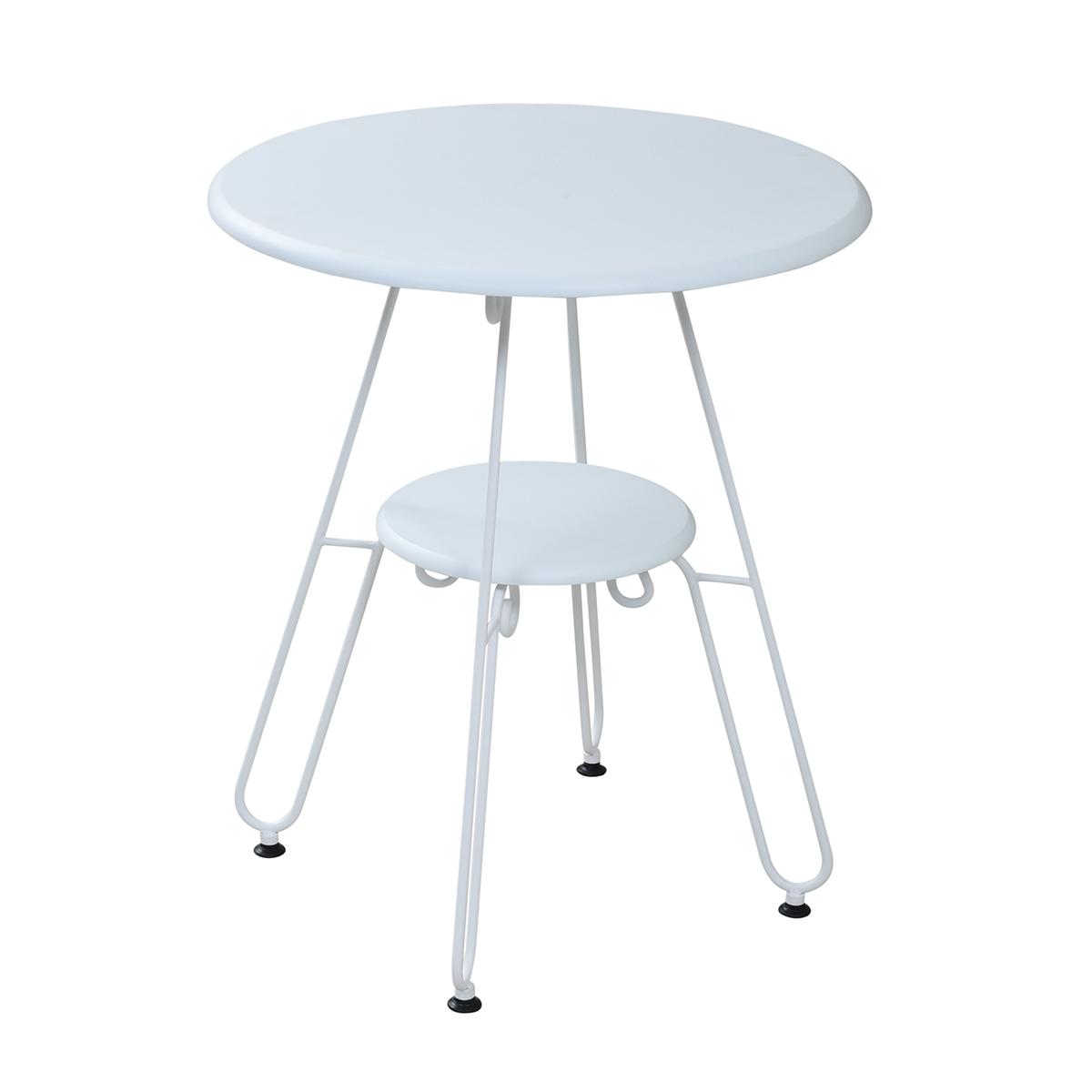 アイアン丸テーブル IRI−0051−WH