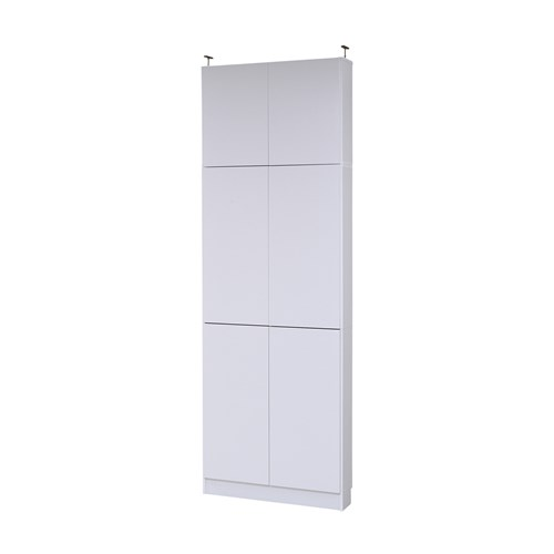MEMORIA 棚板が1cmピッチで可動する 薄型扉付幅81 上置きセット