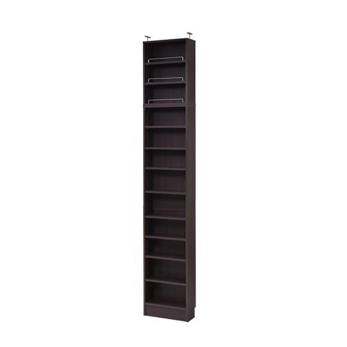 MEMORIA 棚板が1cmピッチで可動する 薄型オープン幅41.5 上置きセット