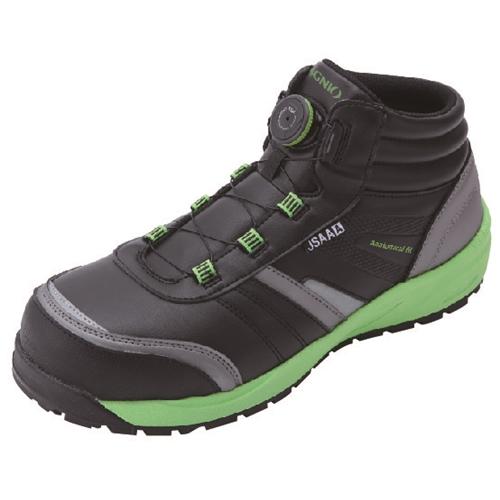 イグニオ 安全靴 ダイヤル IGS1057BK22.5