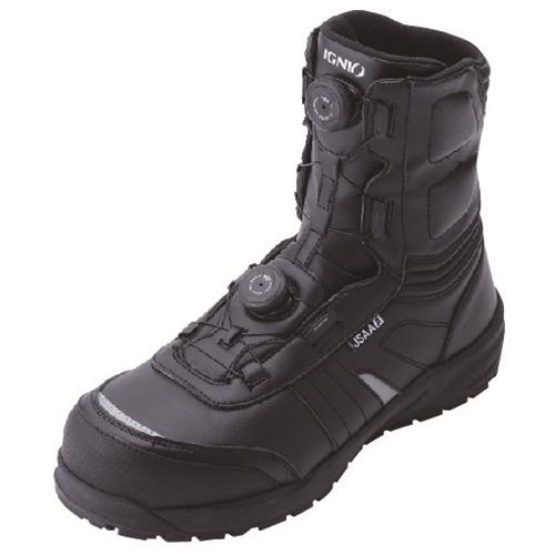 イグニオ 安全靴 ダイヤル IGS1067BK27.5
