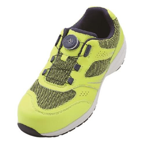 イグニオ 安全靴 ダイヤル IGS1018YLGR22.5