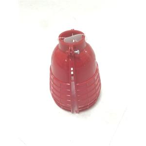 ポリ電球ガード 2ッ割(赤)