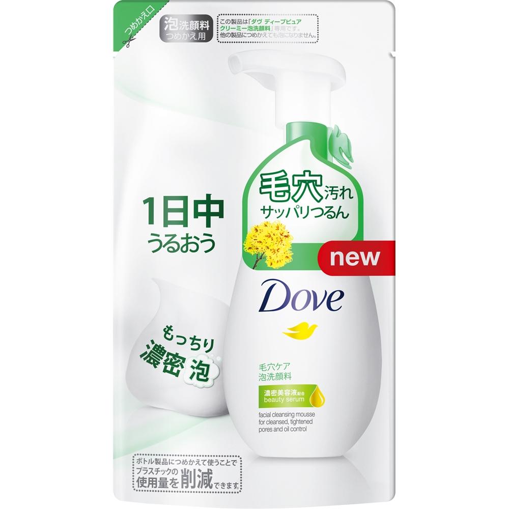 ダヴ ディープピュア クリーミー泡洗顔料 つめかえ用