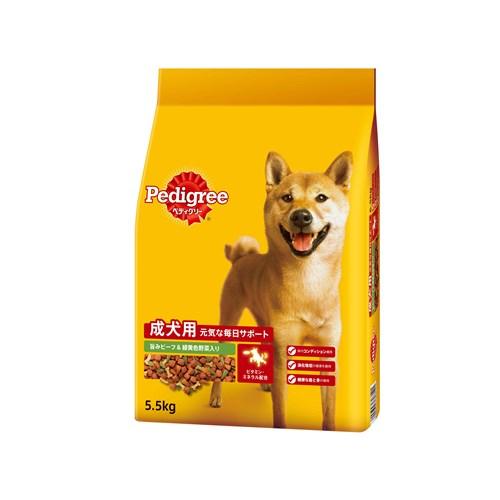 ペディグリードライ 成犬用ビーフ野菜入り 5.5kg