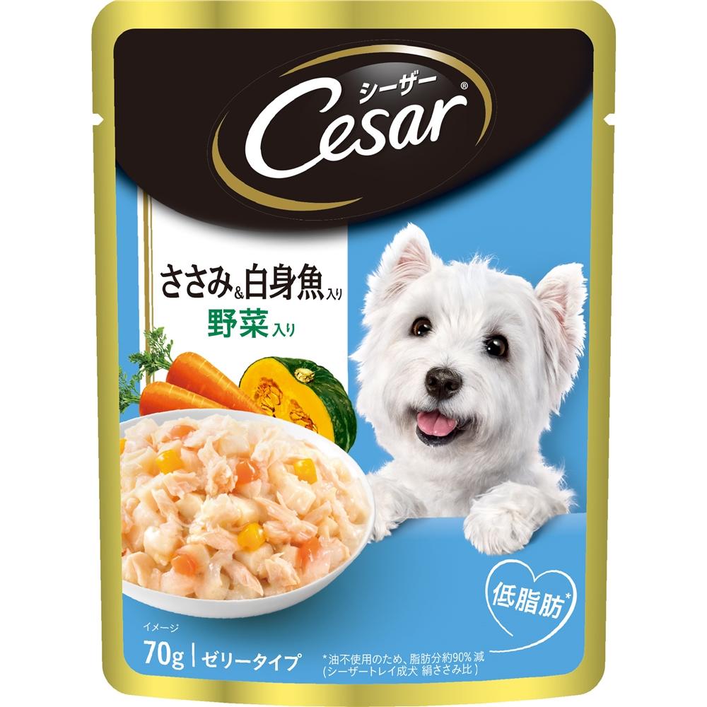 シーザー ささみ&白身魚入り 野菜入り 70g  CEP14