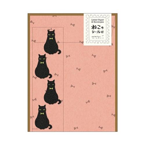 レターセット413黒猫