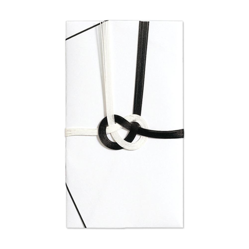 仏金封 黒白7本斜折 字なし キ−310