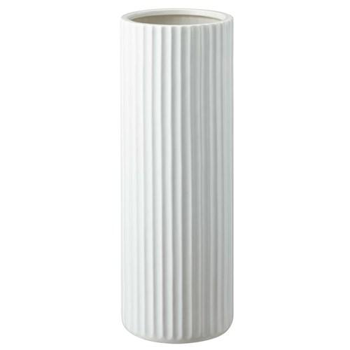 陶器傘立てスリム スリムストライプ ホワイト