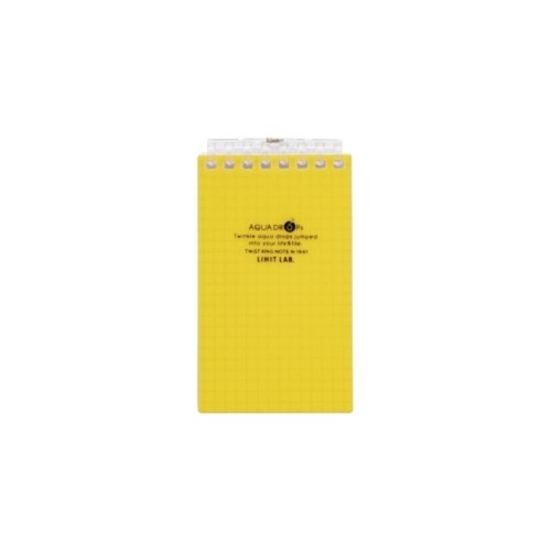AQUADROPsツイストノート(メモサイズ)メモサイズ8穴5黄N−1661