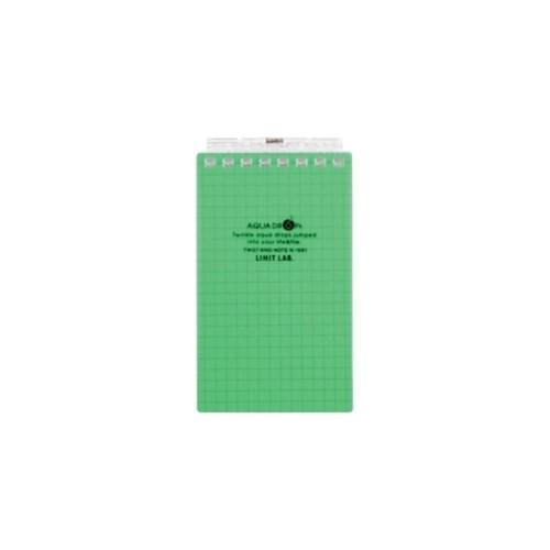 AQUADROPsツイストノート(メモサイズ)メモサイズ8穴6黄緑N−1661