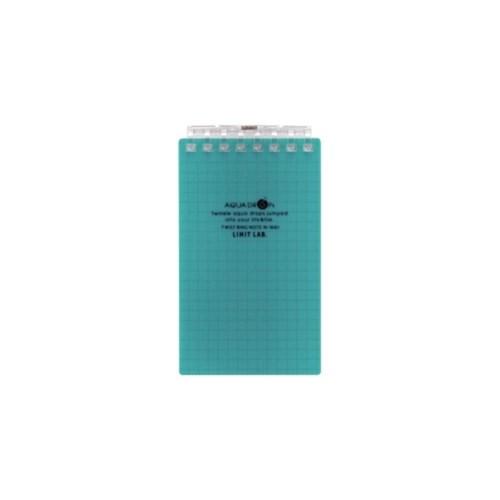 AQUADROPsツイストノート(メモサイズ)メモサイズ8穴28青緑N−1661