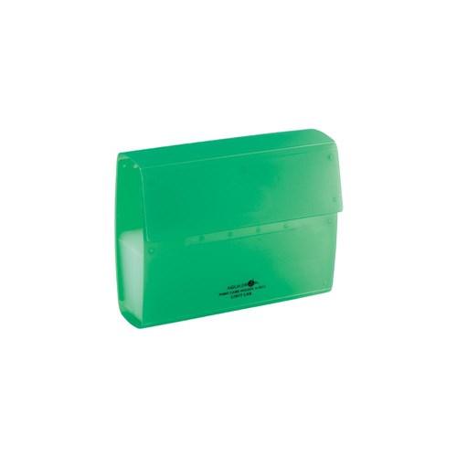 ポイントカードホルダ 黄緑 40枚A5013−6