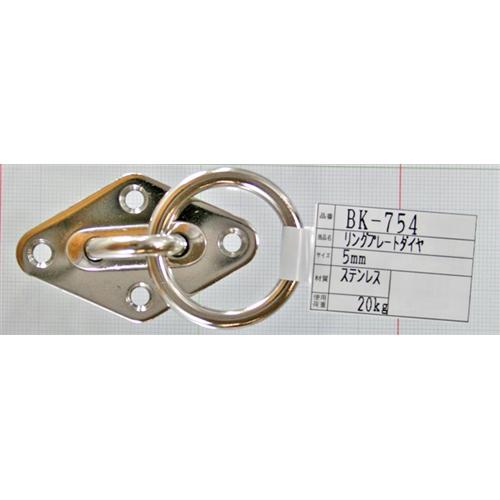 リングプレートダイヤ BK−754 ステンレス 5MM