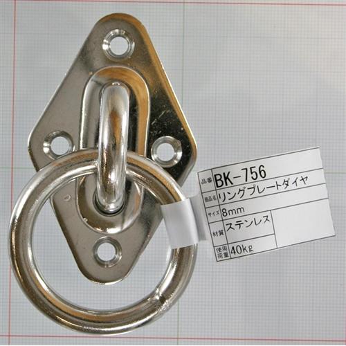 リングプレートダイヤ BK−756 ステンレス 8MM