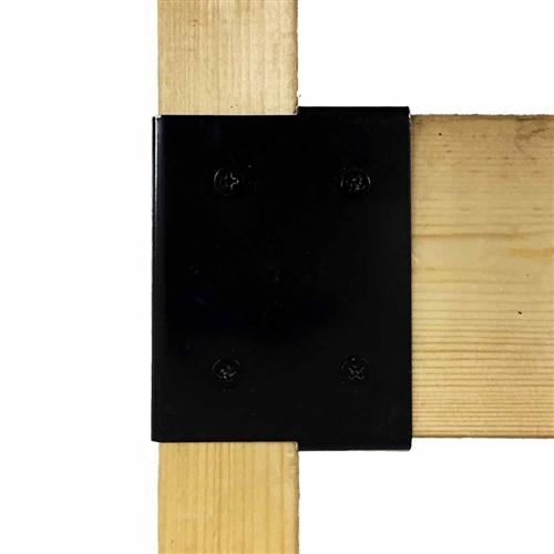 補強金具 エンド 黒 WAT−009