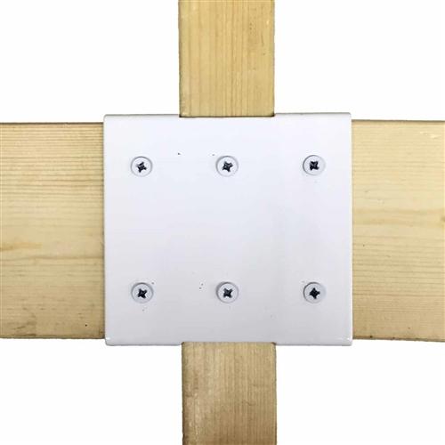 補強金具 中間 白 WAT−012