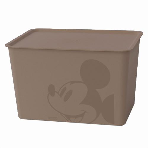 ミッキーマウス スクエアBOX ラージ ブラウン