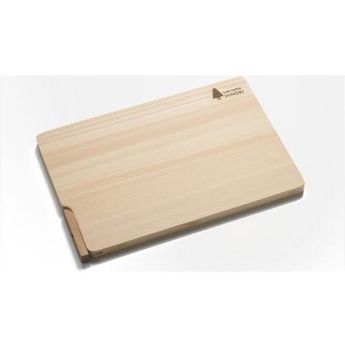 自立スタンド付き ひのきまな板 32×22×1.5cm