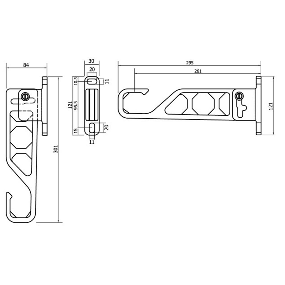 ランドリーホルダーミニ 295mm ホワイト
