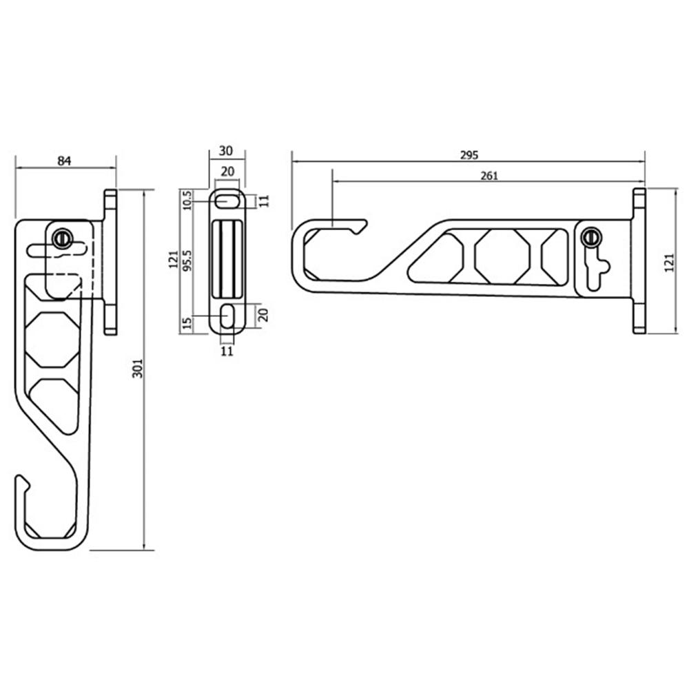 ランドリーホルダーミニ 295mm ステンカラー