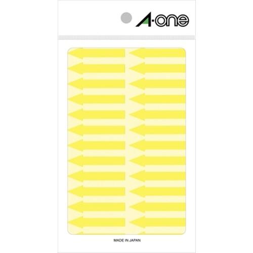 矢印ラベル 蛍光黄 08067