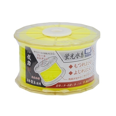 儀助 蛍光水糸 細黄 500m