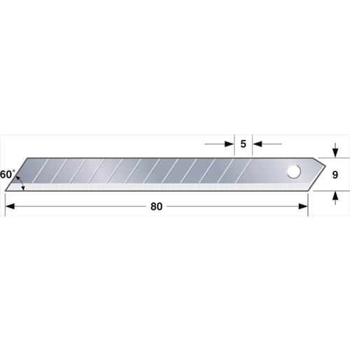 替刃 小(A型カッター用替刃)(50枚入) LB−30−50