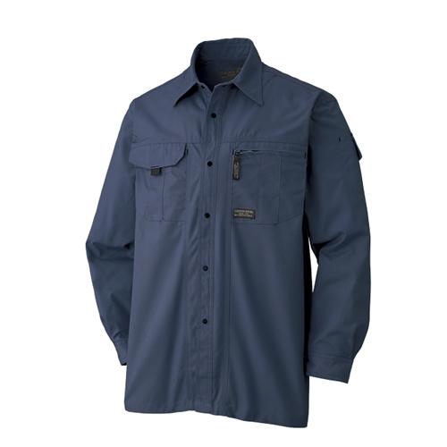 長袖シャツ 611−6 ネイビー L