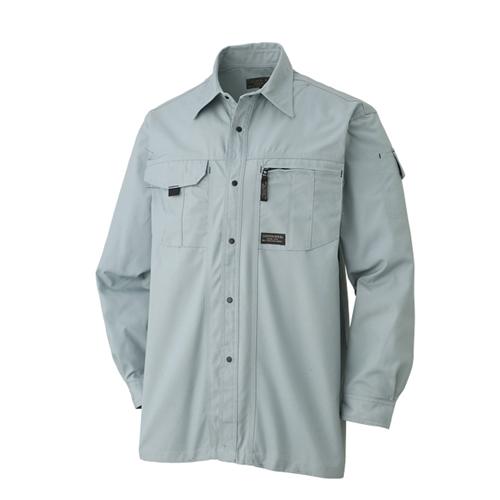 長袖シャツ 611−6 Nグリーン M
