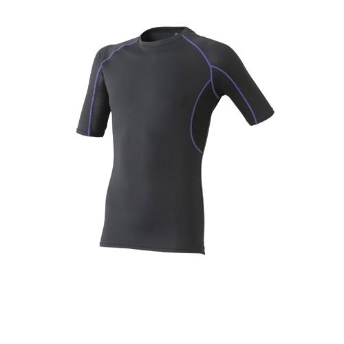 クール半袖シャツ 664−15 ブラック M