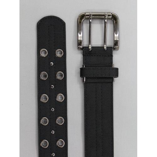 合皮ハトメベルト Y150L 黒 WP40mm