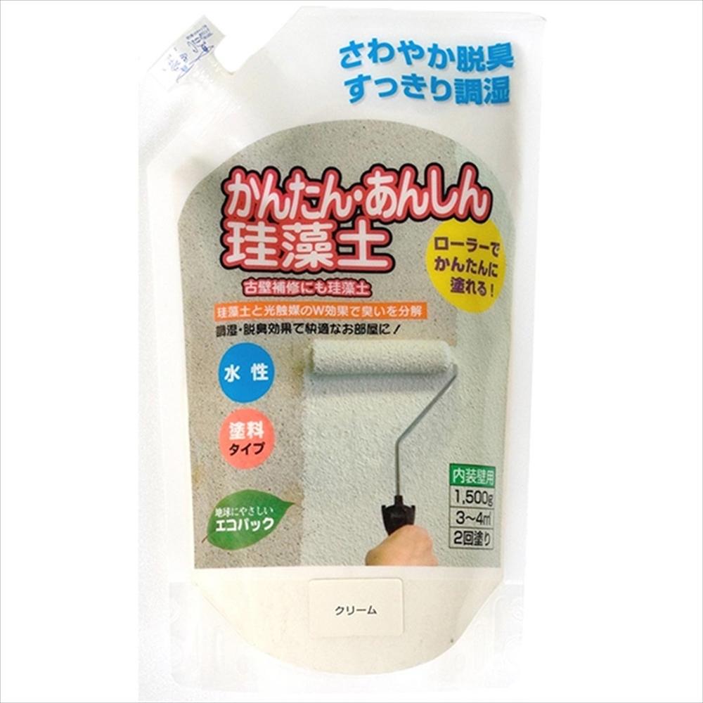 フジワラ かんたん安心珪藻土1.5kg クリーム
