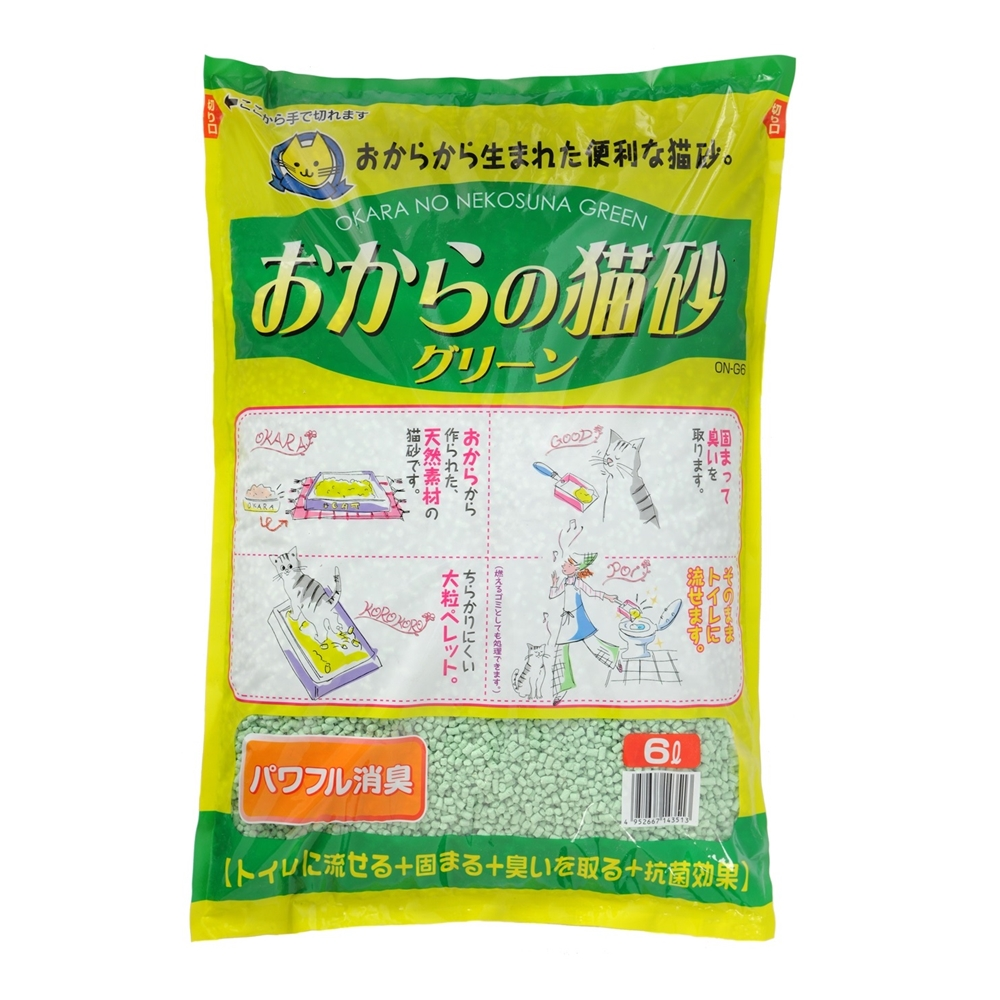 おからの猫砂 グリーン 6L ×4個セット