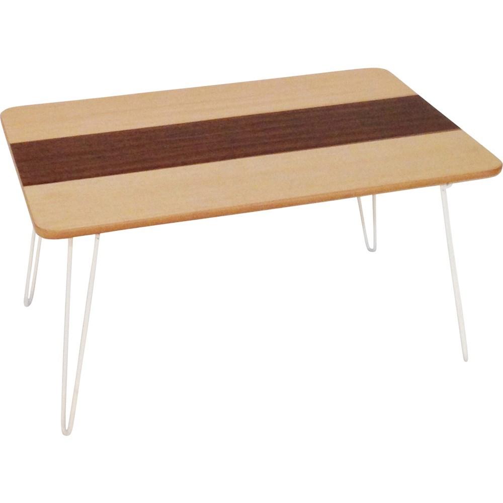 突板折畳ローテーブル ライン 6040