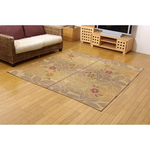 イケヒコ・コーポレーション(IKEHIKO)  純国産 袋織い草ラグカーペット 『なでしこ』 ベージュ 191×191cm