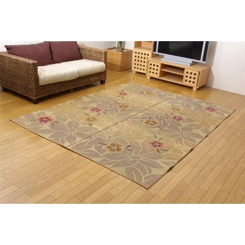 イケヒコ・コーポレーション(IKEHIKO)  純国産 袋織い草ラグカーペット 『なでしこ』 ベージュ 191×250cm
