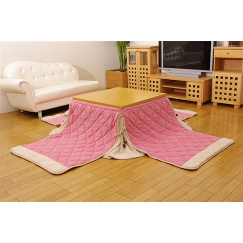イケヒコ・コーポレーション(IKEHIKO)  ゆったりーな 省スペースこたつ掛け布団単品 『ふわり省S』 ピンク 約280×320cm