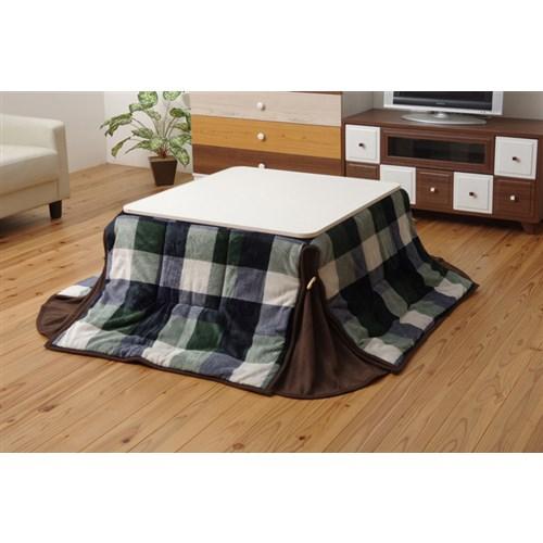 イケヒコ・コーポレーション(IKEHIKO)  洗える 省スペースこたつ薄掛け布団単品 『ジャーナル省S』 グリーン 約180×220cm