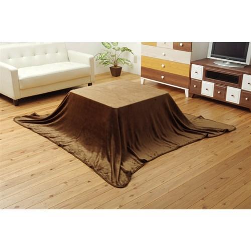 イケヒコ・コーポレーション(IKEHIKO)  こたつ布団用 中掛け毛布 フランネル 『フラリー』 ブラウン 約200×200cm