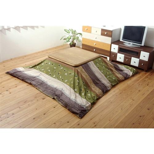イケヒコ・コーポレーション(IKEHIKO)  和柄 こたつ布団カバー 長方形 『こよみ』 グリーン 約215×255cm