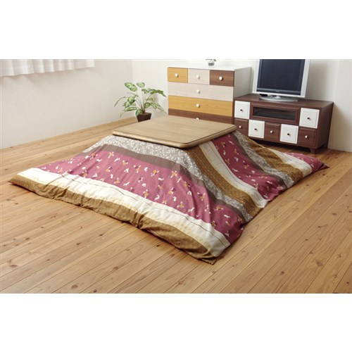 イケヒコ・コーポレーション(IKEHIKO)  和柄 こたつ布団カバー 正方形 『こよみ』 ローズ 約215×215cm